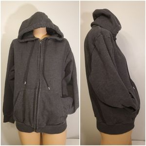 FOREVER 21 DIVIDED Grey Zip Up Hoodie